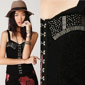 Free People   Backstage Pass Beaded Corset Knit